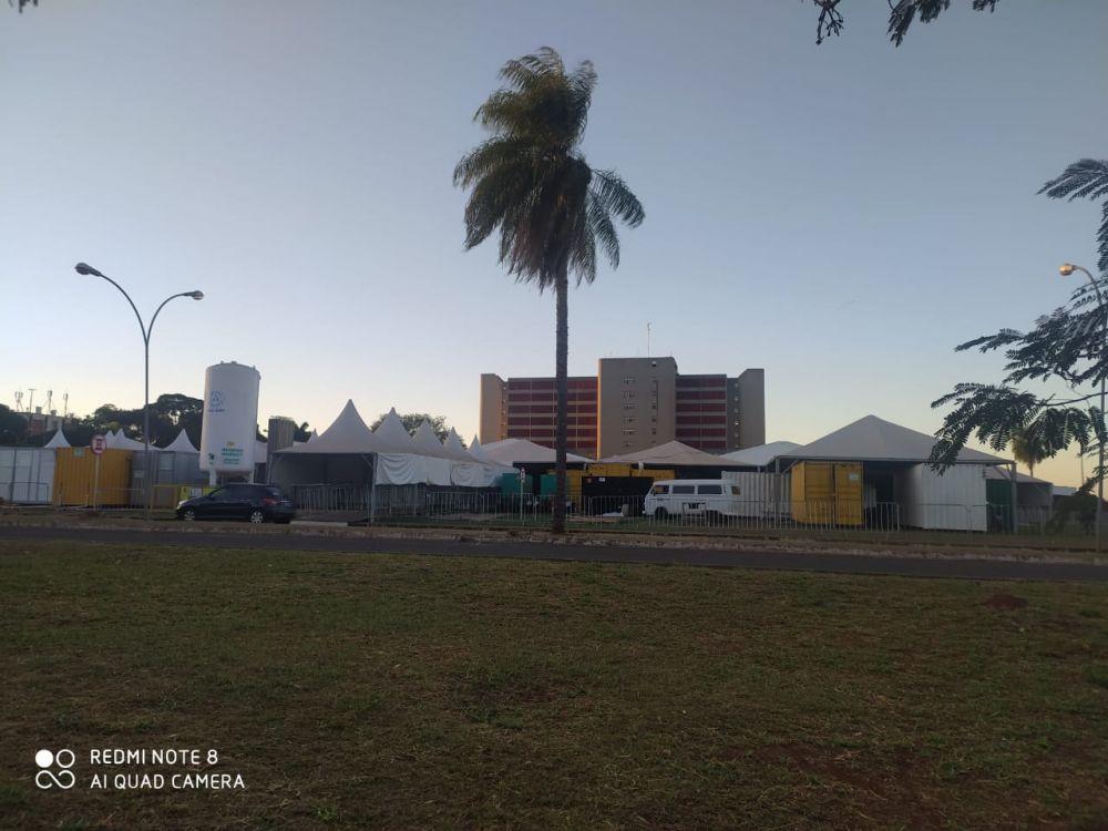 Hospital de campanha custou mais de R$1,7 milhão e não vai receber nenhum paciente com covid-19 (Foto: O Jacaré)