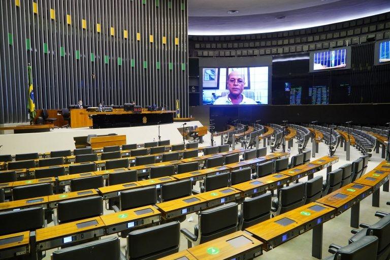 Sessões de votação na Câmara são realizadas virtualmente por causa da pandemia - (Foto: Pablo Valadares/Câmara dos Deputados)