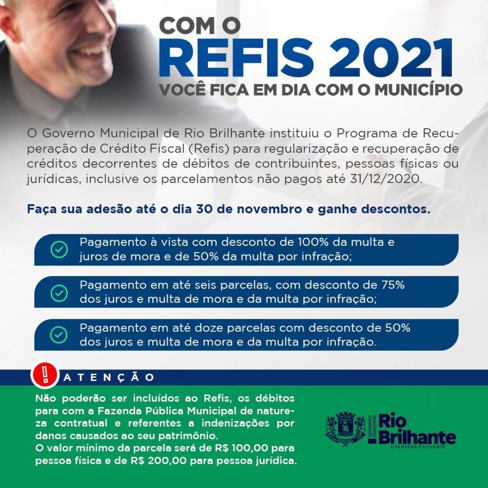 Governo Municipal instituiu Programa de Recuperação de Crédito Fiscal aos contribuintes de Rio Brilhante