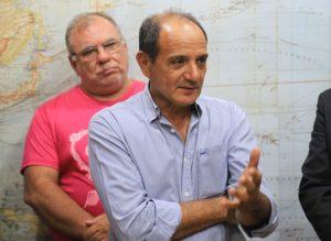 Prefeito Arlei Barbosa e secretário de saúde, Oliveira Borges