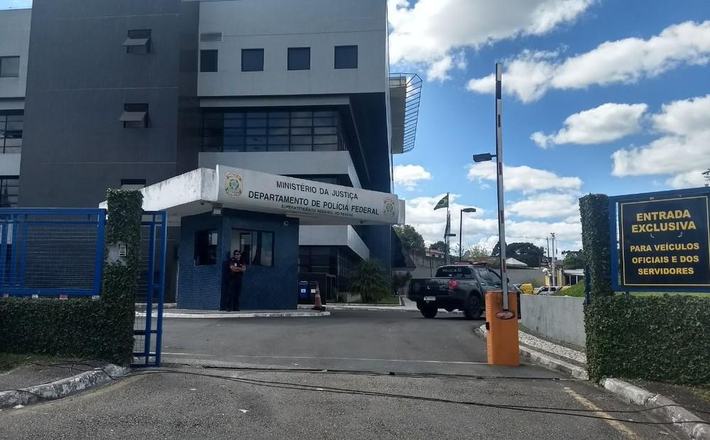 Wilson Quintella Filho, ex-presidente de empresas do Grupo Estre, estava preso na Superintendência da PF em Curitiba — Foto: Dulcineia Novaes/RPC Curitiba