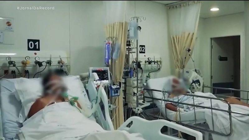 Brasil tem 351.334 mortes por covid-19 - (Foto: Reprodução/Record TV)