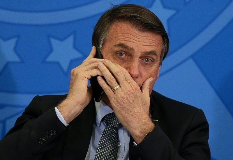 Bolsonaro teve conversa telefônica gravada e divulgada por Jorge Kajuru - (Foto: Pedro Ladeira/Folhapress - 23.7.2019)