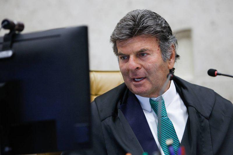 O presidente do STF, ministro Luiz Fux, em sessão realizada por videoconferência - (Foto: Fellipe Sampaio /SCO/STF - 24.03.2021)