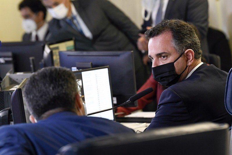O presidente do Senado e do Congresso, Rodrigo Pacheco - (Foto: Jefferson Rudy/Agência Senado-13/04/2021)