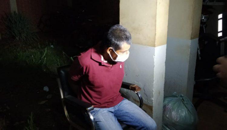 Eurico Rodrigues já preso; (Foto: Sidnei Bronka/Ligado Na Notícia)