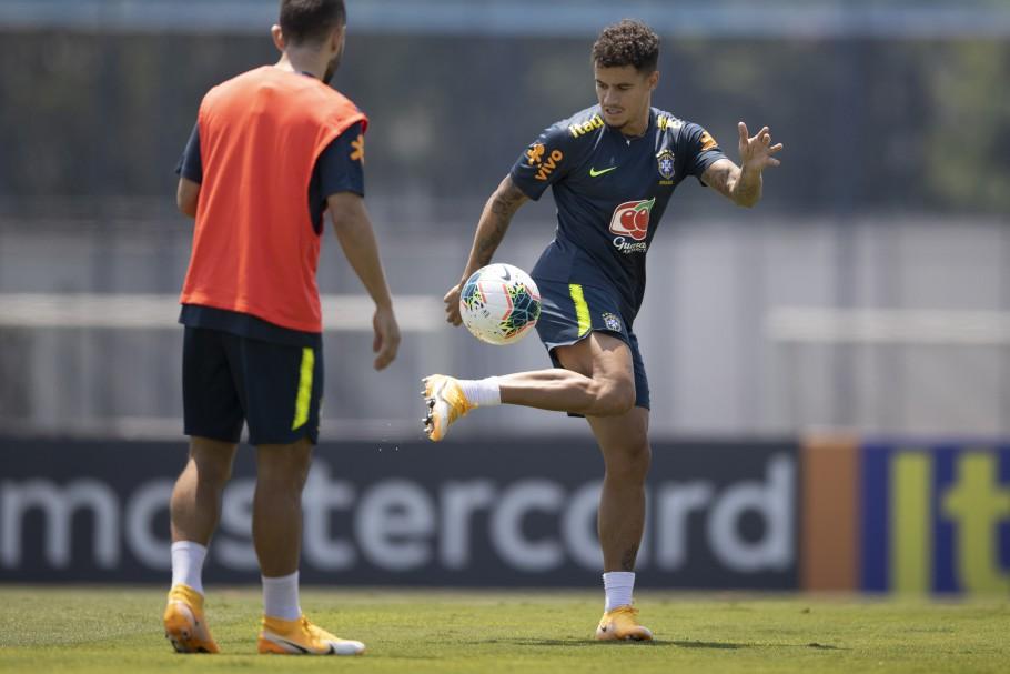 Último treino da Seleção Brasileira em São Paulo antes do confronto contra o Peru. Lucas Figueiredo/CBF