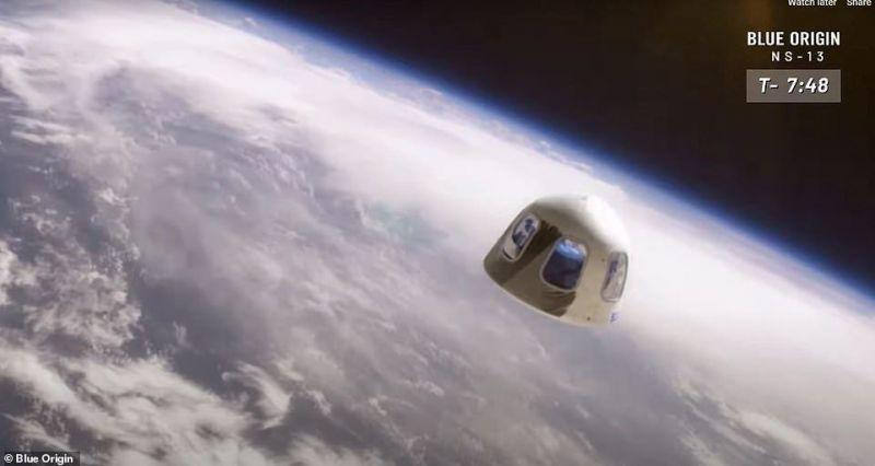 Turistas vão passar cerca de 10 minutos no espaço - (Foto: Blue Origin)