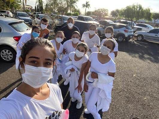 Estudantes da Etec de Itapetininga durante atividade prática do curso técnico de enfermagem - (Foto: Divulgação Centro Paula Souza)