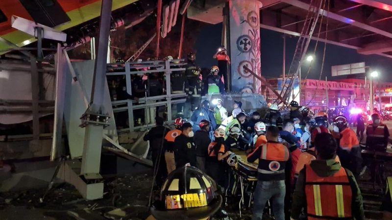 Acidente no metrô da Cidade do México - (Foto: Reprodução/@CNPC_MX)