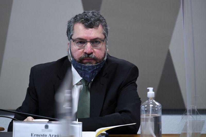 O ex-chanceler Ernesto Araújo - (Foto: Edilson Rodrigues/Agência Senado - 18.05.2021)