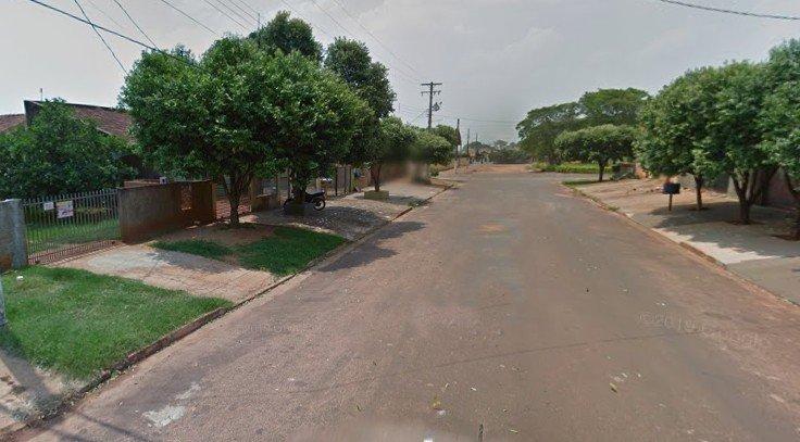 Rua Atilio Borgo, em Ivinhema, onde ocorreu o crime (Foto: Reprodução/GMaps)
