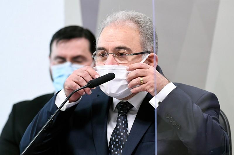 """Ministro da Saúde, Marcelo Queiroga, disse na CPI da Pandemia que não vê """"do ponto de vista epidemiológico"""" justificativa contra a Copa América no Brasil - Jefferson Rudy/Agência Senado"""