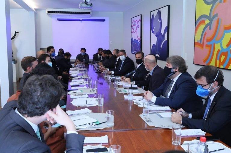 Reunião de líderes na residência oficial do presidente da Câmara - (Foto: Câmara dos Deputados)
