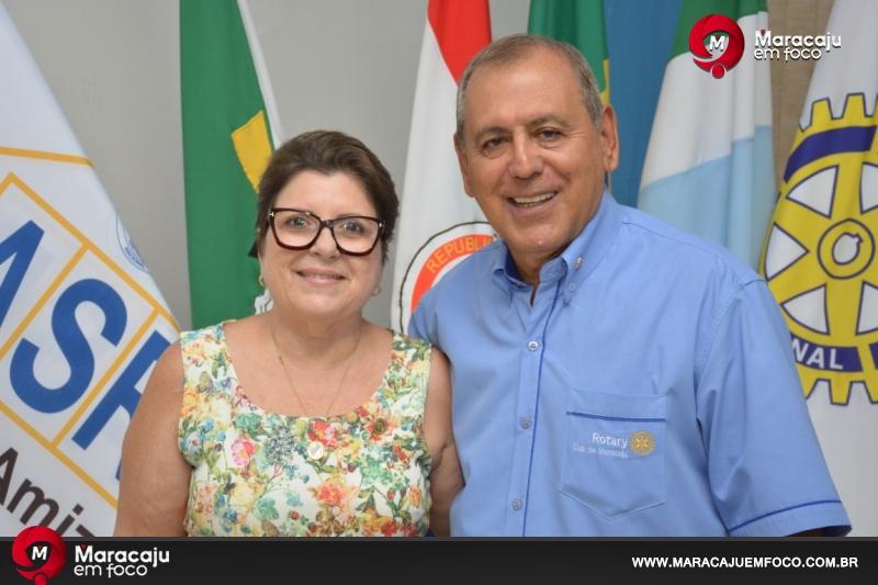 Presidente do Rotary Club de Maracaju Dr. Carlos Alberto Ocariz e sua esposa Dra. Azaléia - Foto: Gessica Souza