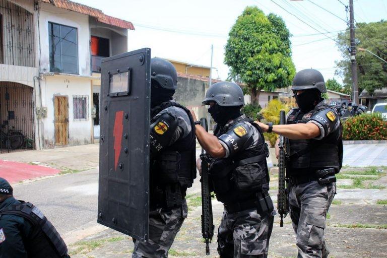 Treinamento de policiais em Belém (PA) - (Foto: Marco Nascimento/Agência Pará)