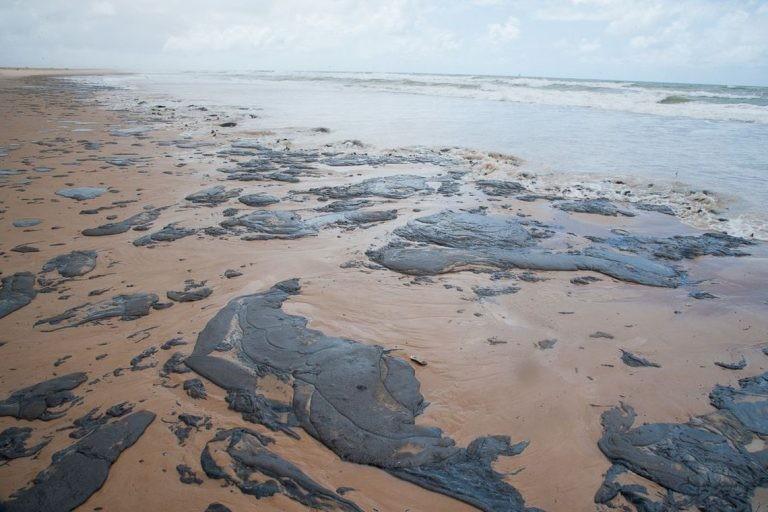 Em 2019, o litoral do Nordeste foi atingido por vazamento de petróleo - (Foto: Adema/Governo de Sergipe)