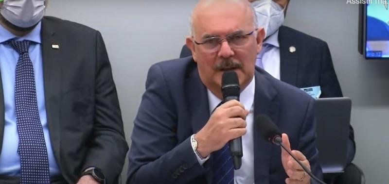 Ministro da Educação Milton Ribeiro participa de audiência na Comissão de Educação da Câmara - (Foto: Reprodução)