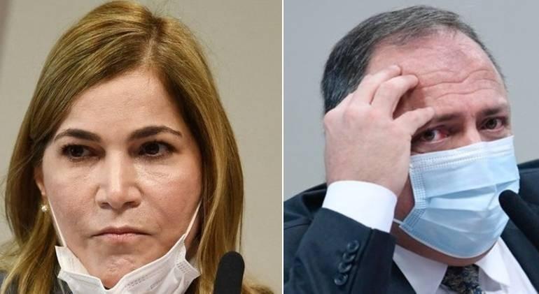 Mayra Pinheiro e Eduardo Pazuello estão no centro da investigação da CPI da Covid - (Foto: Montagem/ R7/Agência Senado)