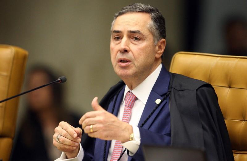 Ministro Luís Roberto Barroso durante sessão do STF - (Foto: Nelson Jr./SCO/STF - 18.03.2020)
