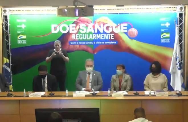 Marcelo Queiroga lança campanha de doação de sangue - (Foto: Reprodução Ministério da Saúde - 14.6.2021)