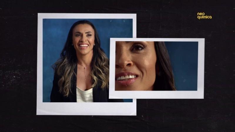 Jogadora Marta Silva é a atual embaixadora da Neo Química e estampa a nova campanha institucional da marca - (Foto: DIVULGAÇÃO/NEO QUÍMICA)
