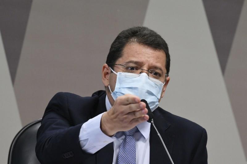 O ex-secretário de Saúde do Amazonas Marcellus Campelo - (Foto: Edilson Rodrigues/Agência Senado - 15.06.2021)
