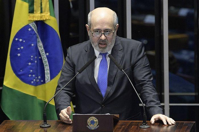 Presidente da Record TV discute as fake news - (Foto: Pedro França/Agência Senado)