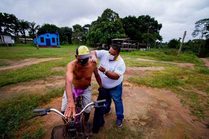 Jacareacanga (PA) tem um dos maiores percentuais de infectados de todo o país - (Foto: André Tal/Record TV)
